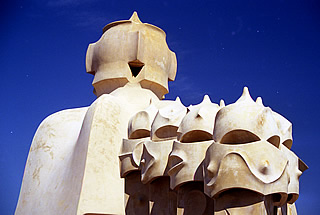 On the roof of Casa Milà