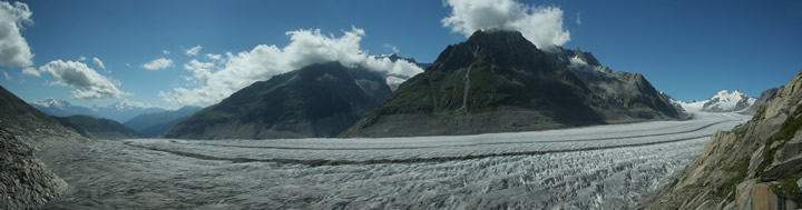 The Aletsch Glacier seen from Eggishorn August 2008
