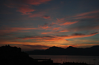 Dawn over Calvi bay