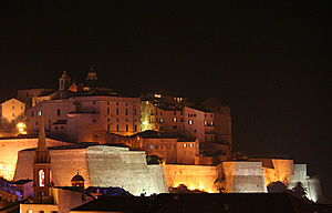 Calvi citadel at night