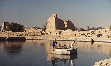 The sacred lake, the  Temple of Karnak