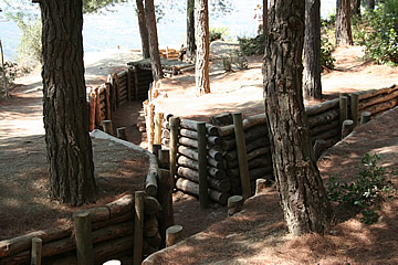 Reconstructed trenches on Chunuk Bair