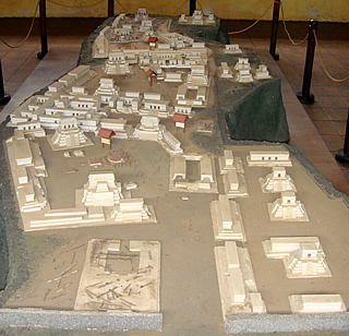model of Iximche