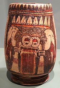 jar depicting Tlaloc