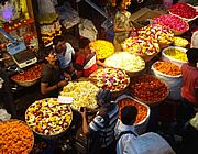 Early morning flower market, Mumbai