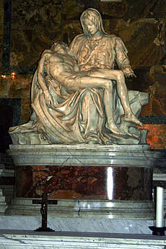The incomparably beautiful Pietà by Michelangelo