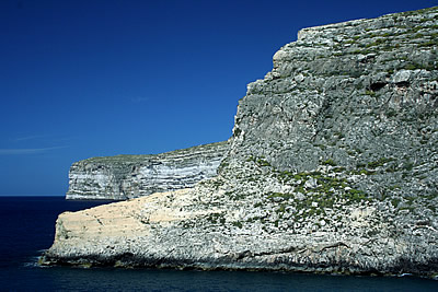 The cliffs north of Xlendi