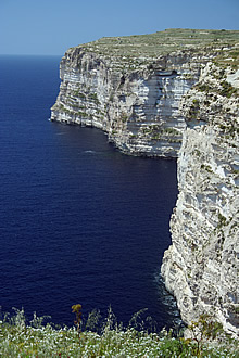 The magnificent cliffs north of Xlendi