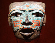 Anthropology Museum turquoise mosaic mask