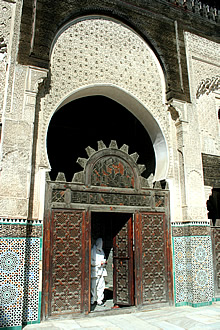 Bou Inania medersa entrance to side hall