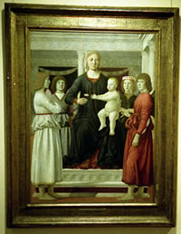 Madonna and Child with Four Angels by Piero della Francesca