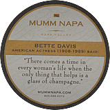 mumm glass mat