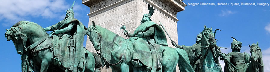 Magyar Chieftains, Heroes Square, Budapest, Hungary