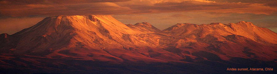 The Silk Route - World Travel: Andes sunset, Atacama, Chile
