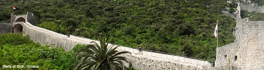 The Silk Route - World Travel: Croatia: Klis and Trogir Walls of Ston