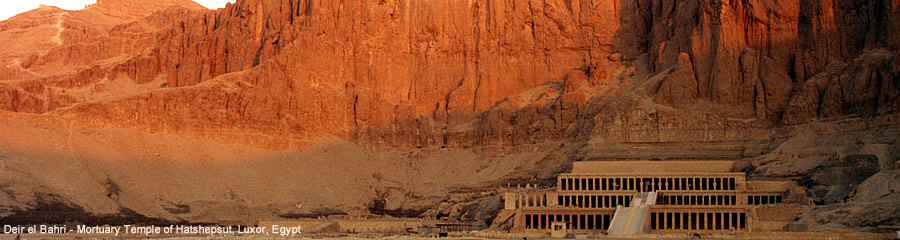 The Silk Route - World Travel: Deir el Bahri - Mortuary Temple of Hatshepsut, Luxor, Egypt
