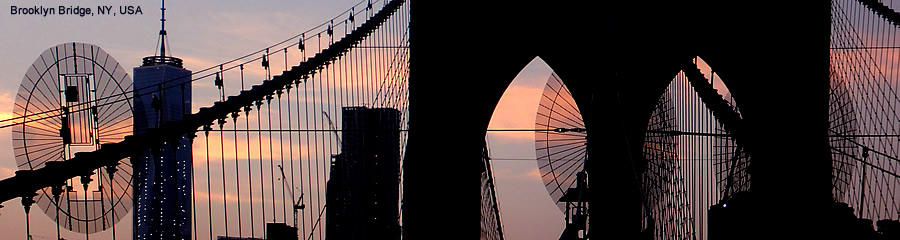 The Silk Route - World Travel: Brooklyn Bridge, New York, USA