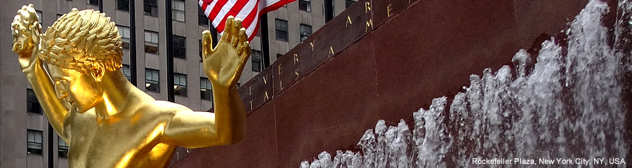 The Silk Route - World Travel: Rockefeller Plaza, New York City, New York, USA
